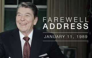 Ronald Reagan's Farewell Address to the Nation.