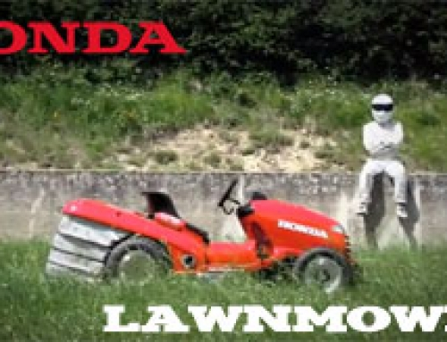 The Stig Drives Honda's 130mph lawnmower
