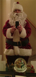 Santa-selfie