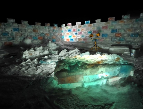 One Crazy Canadian's Magical Ice Fort